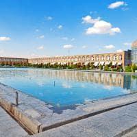 Antiga praça de Isfahan - Irã.
