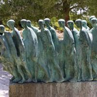 Escultura em Yad Vashem, o Memorial do Holocausto.