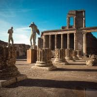 Antigo templo da antiga pompeia
