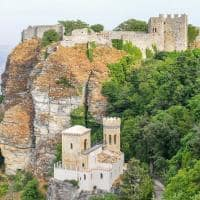 Castelo de norman em erice sic lia