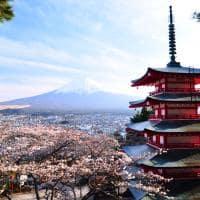 Pagoda, Monte Fuji, Pacote Japão