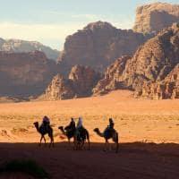 Atividades Jordânia passeios camelo, Deserto Wadi Rum