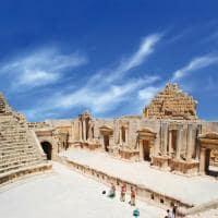 Atração turística Jerash, ruínas greco-romana, Gera, Jordânia