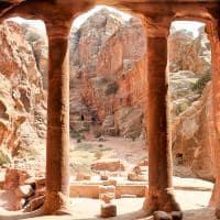 Vista dos jardins de Petra - Jordânia.