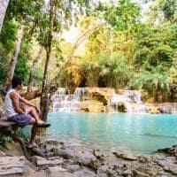 Viagem Laos cachoeira Tat Kuang Si, Luang Prabang