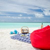 Amilla fushi picnic no banco de areia
