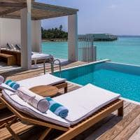 Amilla Lagoon Water Pool Villa deck