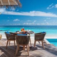Baglioni maldives cafe da manha beach villa