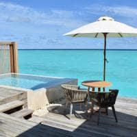 Baglioni maldives deck pool water villa