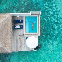 Baglioni maldives vista aerea pool water villa