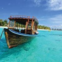 Barco ilha paradisíaca Ilhas Maldivas