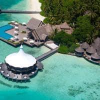 baros maldives vista aerea dos restaurantes
