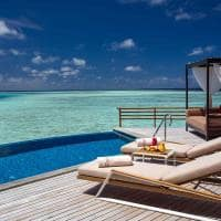 baros maldives water pool villa deck
