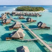 Conrad maldives rangali island vista aerea