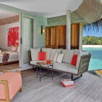 Deck Water Villa Kanuhura Maldives