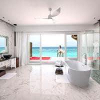Emerald maldives banheiro water villa