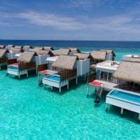 Emerald maldives exterior water villa with pool