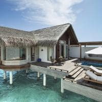 Fairmont maldives sirru fen fush water sunrise villa exterior villa