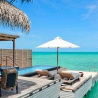 Fairmont maldives sirru fen fushi grand water sunset villa piscina e deck