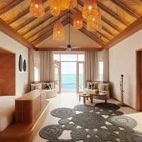 Fairmont maldives sirru fen fushi grand water sunset villa quarto