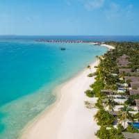 Fairmont maldives sirru fen fushi vista aerea da praia