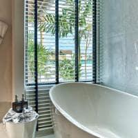Hard rock hotel maldives platinum overwater pool bathroom