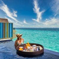 Hard rock hotel maldives platinum overwater pool villa floating breakfast