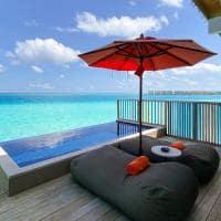 Hard rock hotel maldives platinum overwater pool villa plunge pool