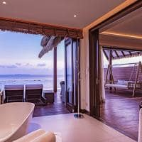 Heritance aarah wash room living room ocean suite