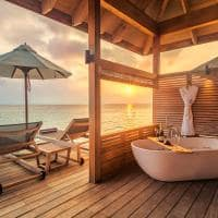 Hurawalhi romantic ocean villa deck