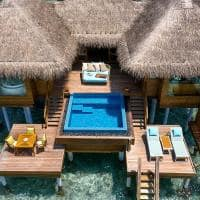 Huvafen fushi ocean bungalow with pool aerea