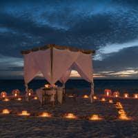 Jantar privativo na praia