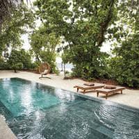 Joali maldivas beach villa with pool exterior