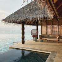 Joali maldivas sunset luxury water villa with pool deck