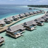 Joali maldivas sunset water villa with pool aereo