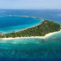 Jw marriott maldives vista aerea dia