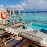 Kagi maldives deck lagoon pool villa