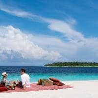 kihavah picnic praia maldivas