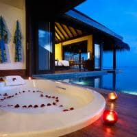 kihavah slumber guru over water pool villa