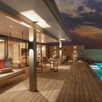 Kuda villingili deck water villa with pool