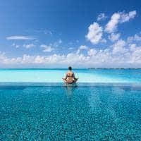 Meditação piscina, Conrad Maldives Rangali Island, Ilhas Maldivas