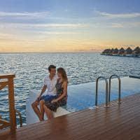Mercure maldivas casal overwater sunset pool villa