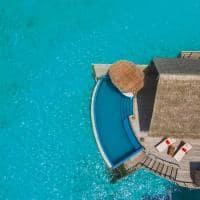 Milaidhoo island water pool villa aereo