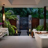 Niyama beach pool villa banheiro