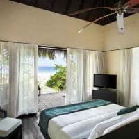 Outrigger konotta maldives resort beach pool villa