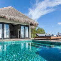 Outrigger konotta maldives resort lagoon pool villa