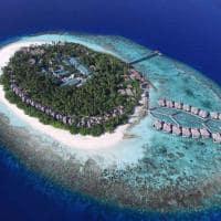 Outrigger konotta maldives resort vista aerea