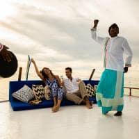 Passeio de dhoni Kanuhura Maldives