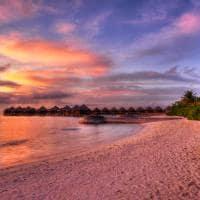 Por sol viagem lua de mel Ilhas Maldivas