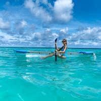 Raffles maldives meradhoo caiaque transparente
